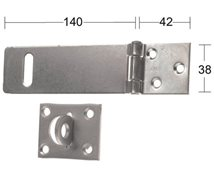 HABO Hasp 1365 140mm galv